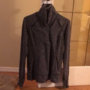 Lululemon 3/4 zip pullover with high collar